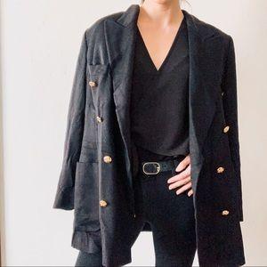 Escada Margaretha Ley Black 100% Cashmere Blazer